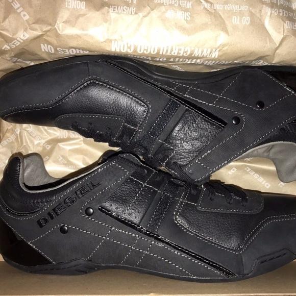 buy popular e47d6 cf624 New Authentic Men 12 DIESEL Korbin II Black Shoes Boutique